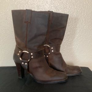 Michael Michael Kors Leather Motorcycle Boots